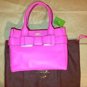 Kate Spade Quinn villabella Avenue pink bow Tote